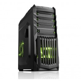 CASE SNAKE-G GAMINGH MIDDLE TOWER USB3 12CM GREEN FAN ODD/HDD KIT 0,65mm
